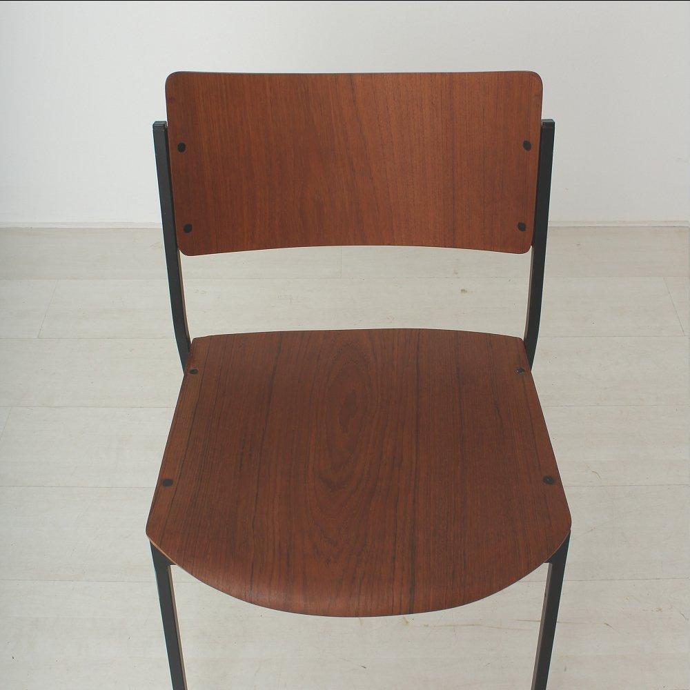 esszimmerst hle aus teakholz 1960er 2er set bei pamono kaufen. Black Bedroom Furniture Sets. Home Design Ideas