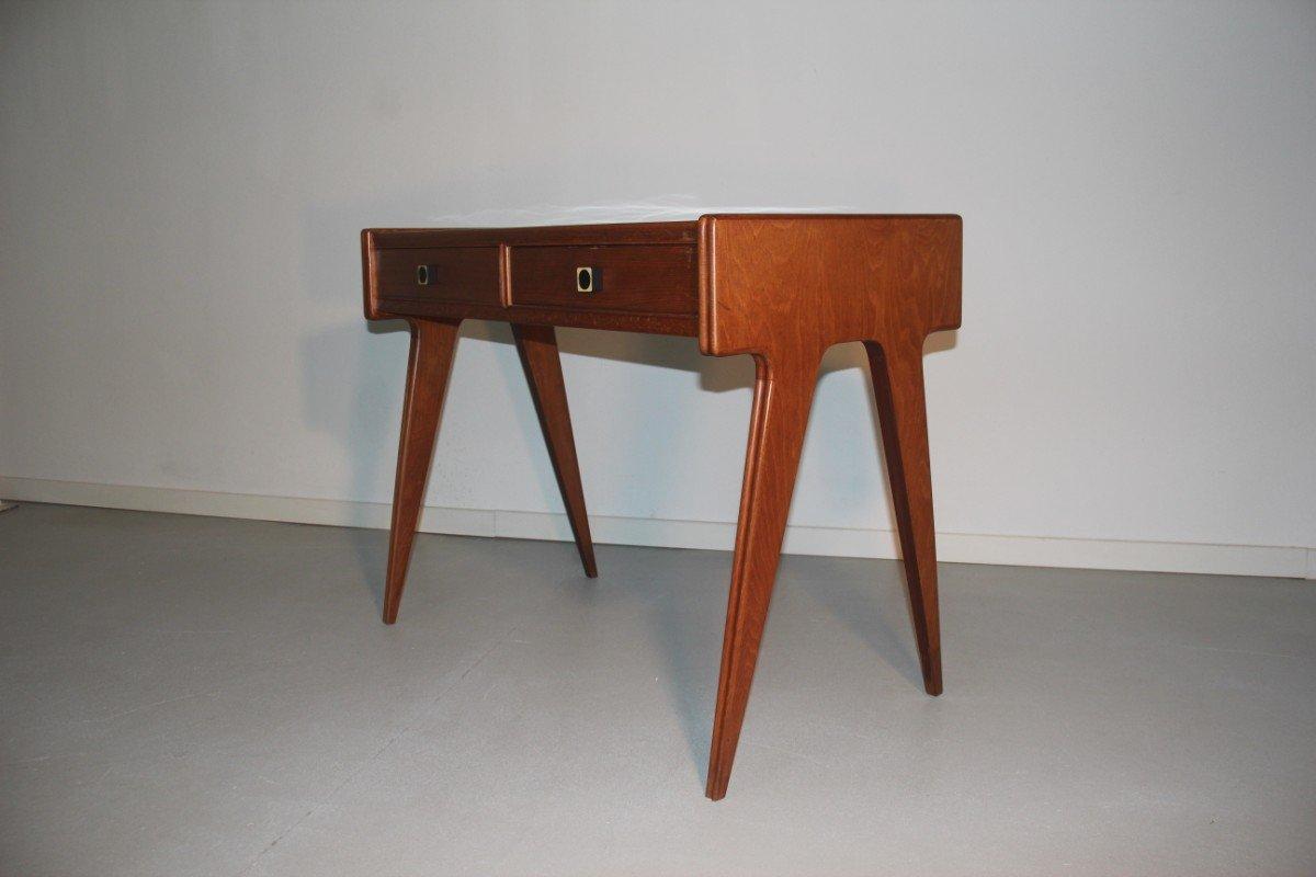 italienischer mid century schreibtisch mit wei er. Black Bedroom Furniture Sets. Home Design Ideas