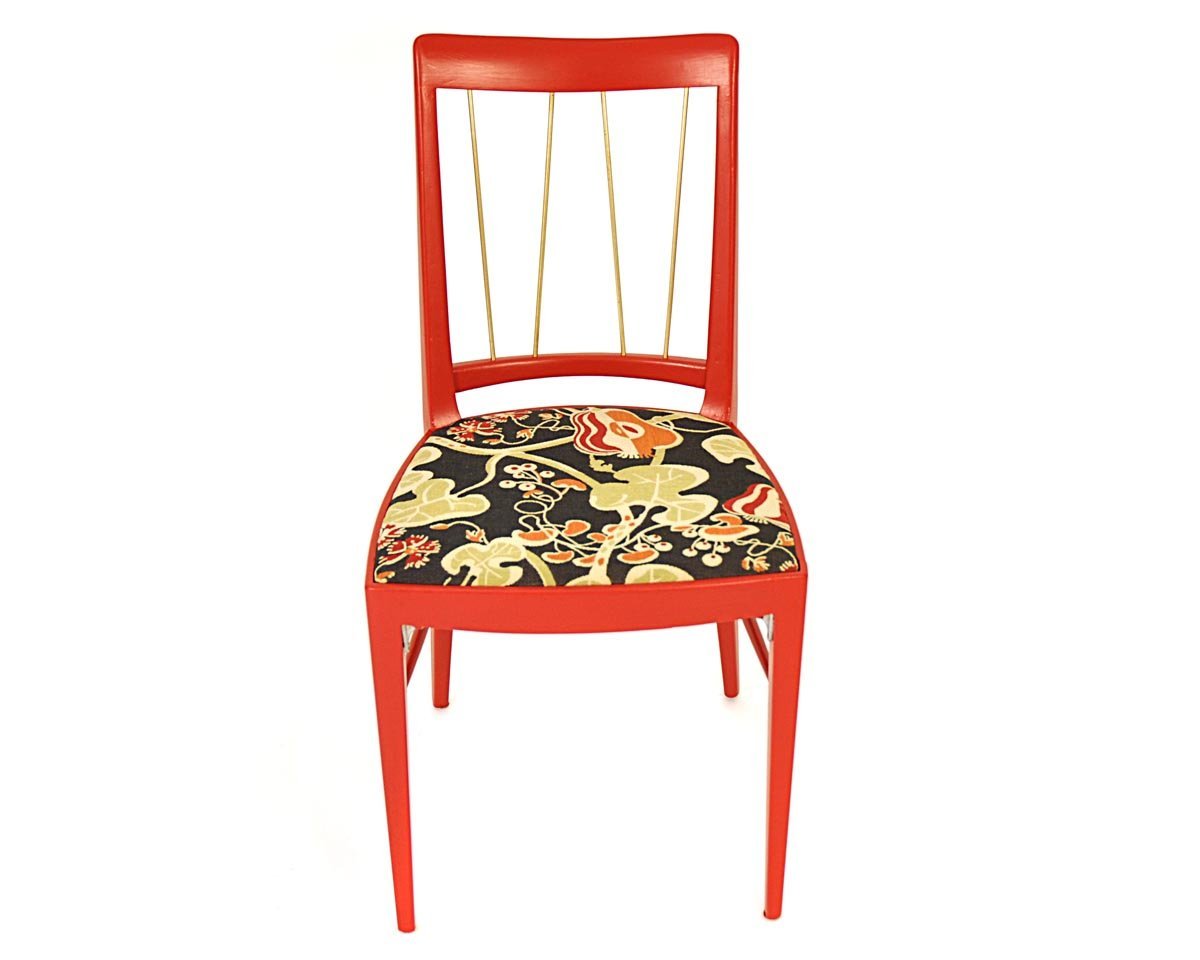 Roter Stuhl von Oswald Haerdtl für Thonet, 1953 bei Pamono kaufen