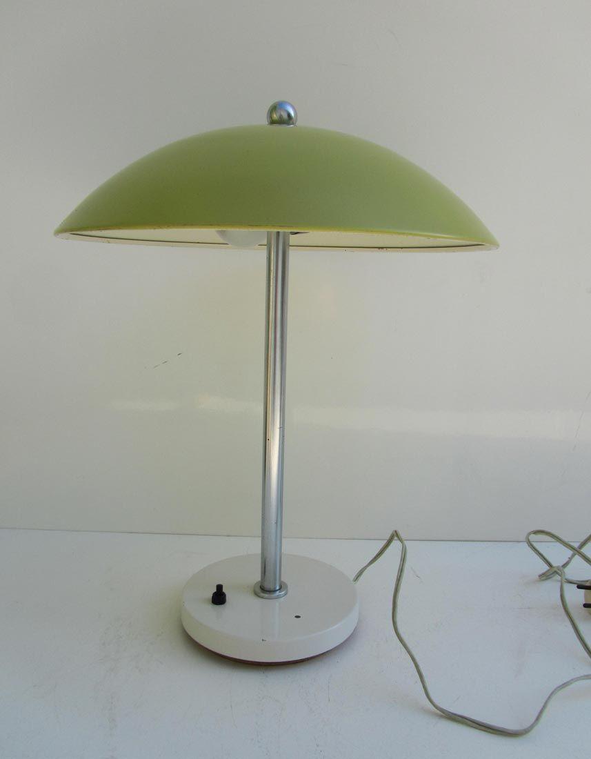 Mushroom Table Lamp By Wim Rietveld For Gispen 1950s For