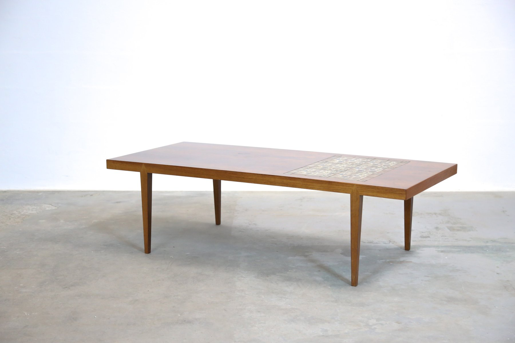 Large Mid Century Ceramic Inlay Coffee Table By Severin Hansen For