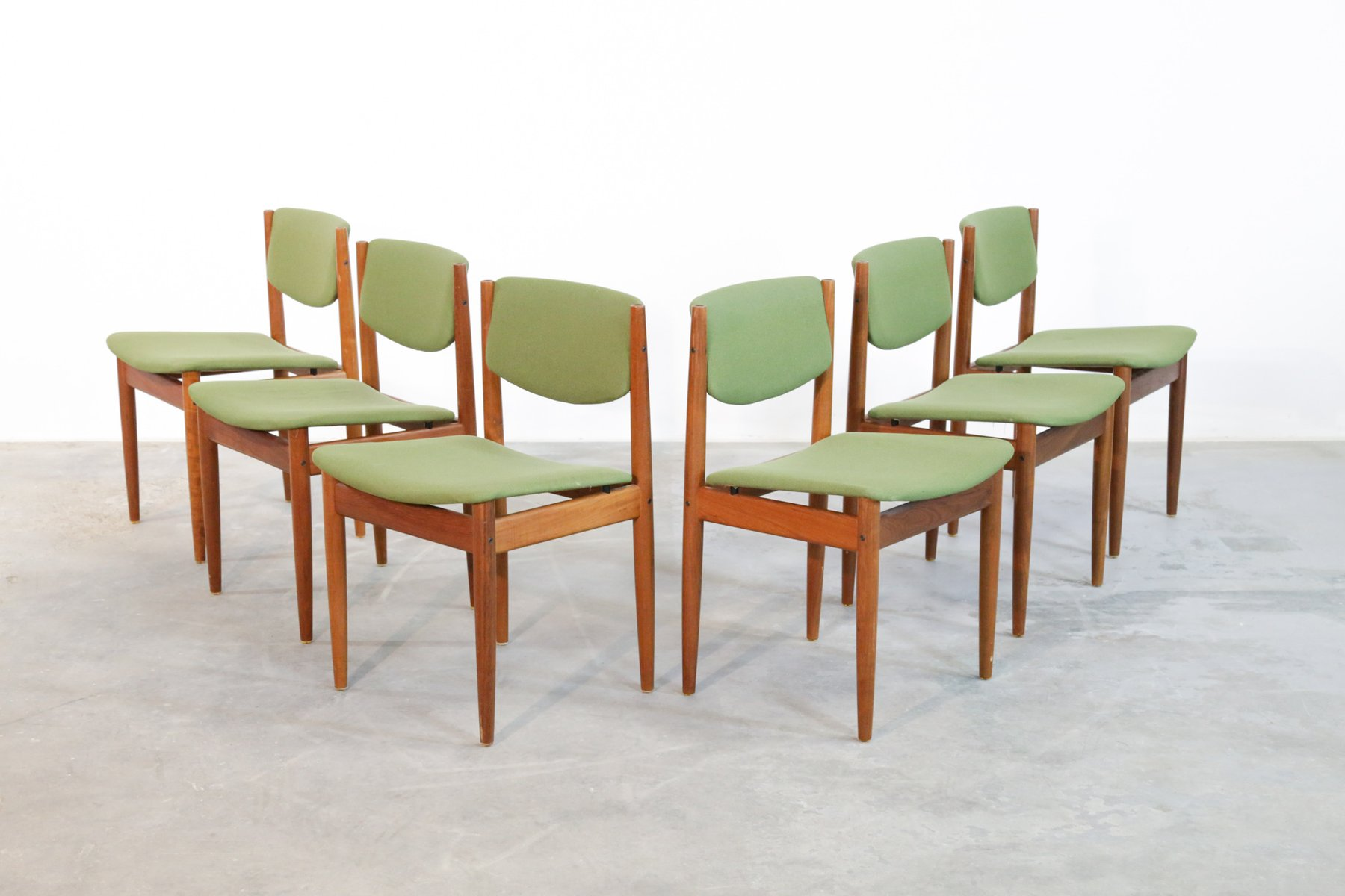 Danish Dining Chairs By Finn Juhl For France U0026 Søn, 1960s, Set Of 6 For  Sale At Pamono
