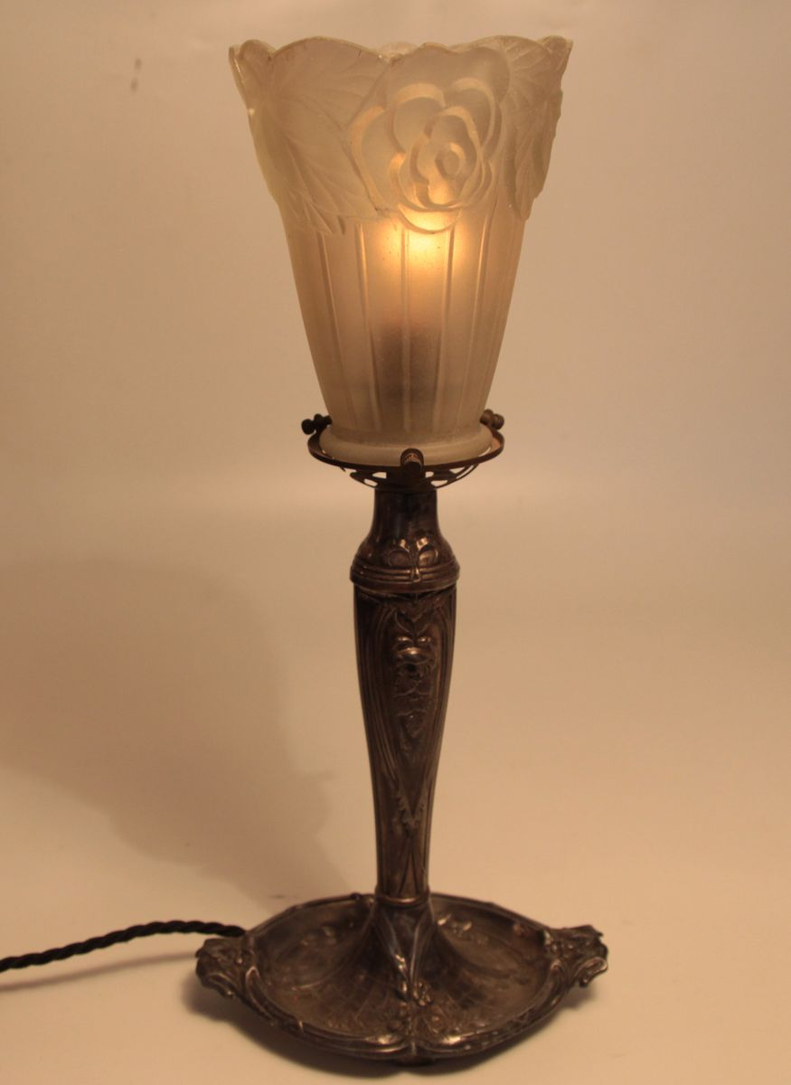 French art deco tulip table lamp for sale at pamono french art deco tulip table lamp aloadofball Image collections