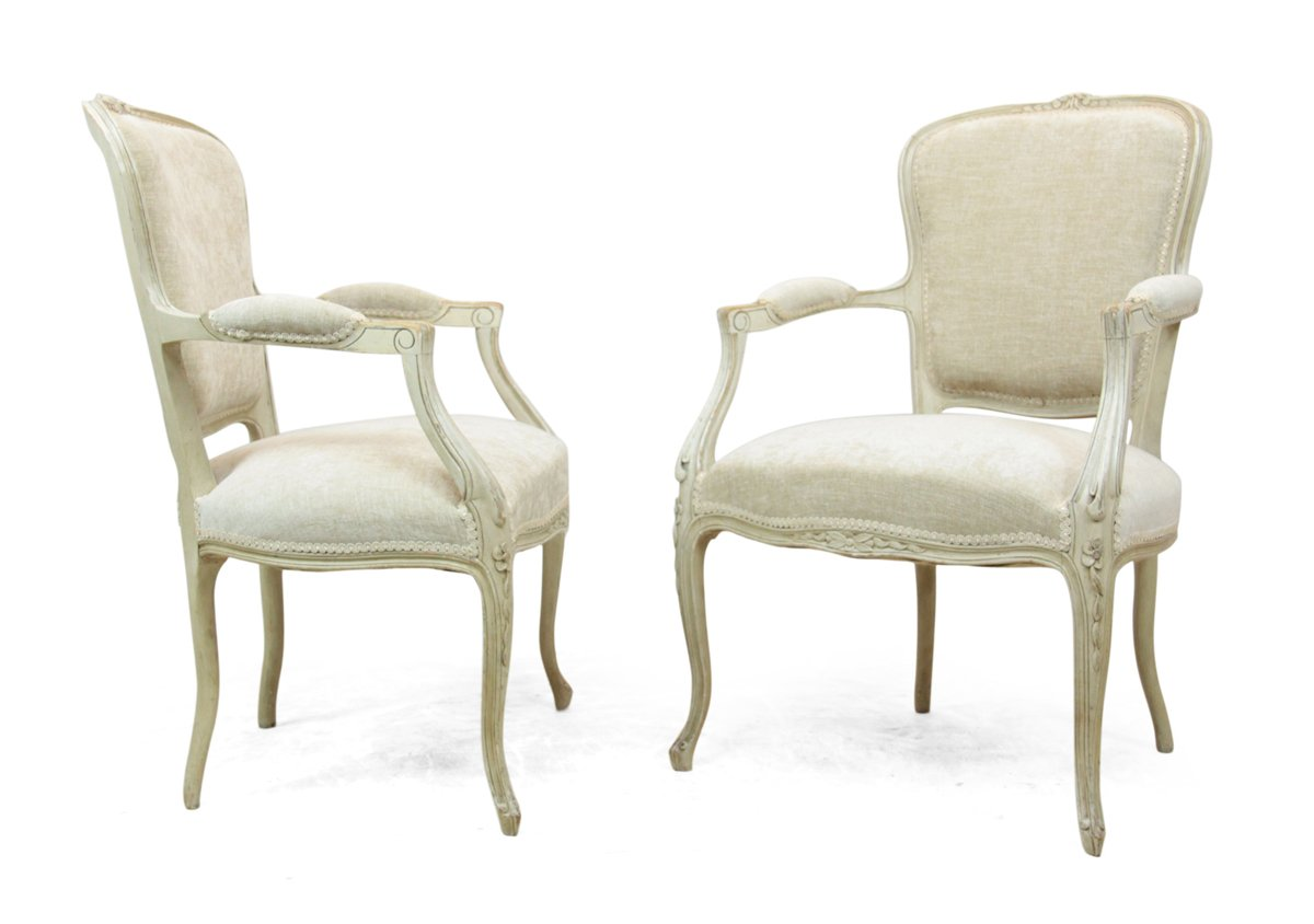 Antique Louis XV Style Chairs, 1900s, Set of 2 - Antique Louis XV Style Chairs, 1900s, Set Of 2 For Sale At Pamono