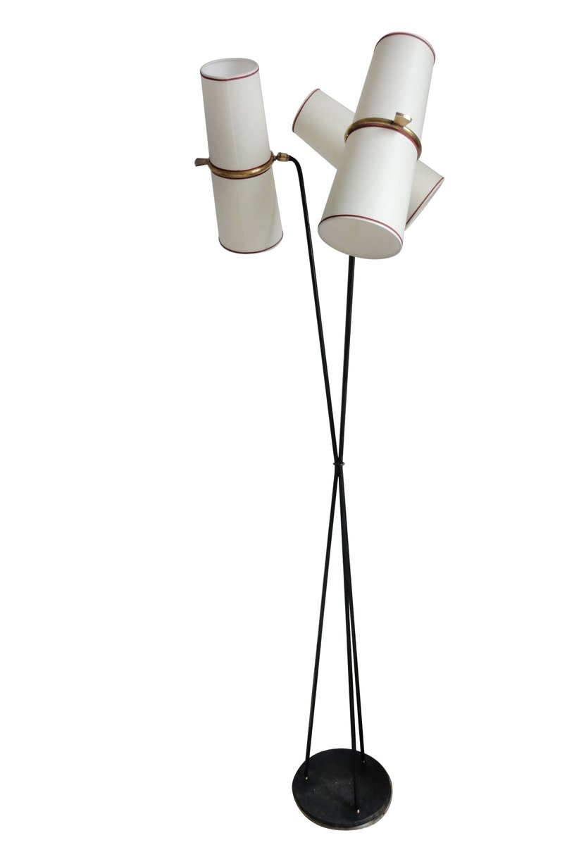 Three light floor lamp from lunel 1950s for sale at pamono three light floor lamp from lunel 1950s aloadofball Choice Image