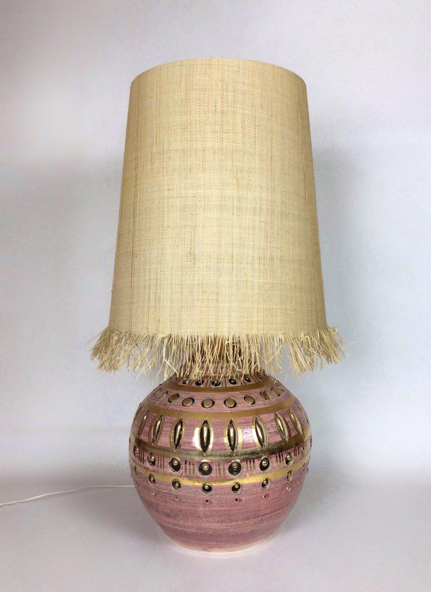 Lampada da tavolo in ceramica smaltata di Pelletier, anni \'60 in ...