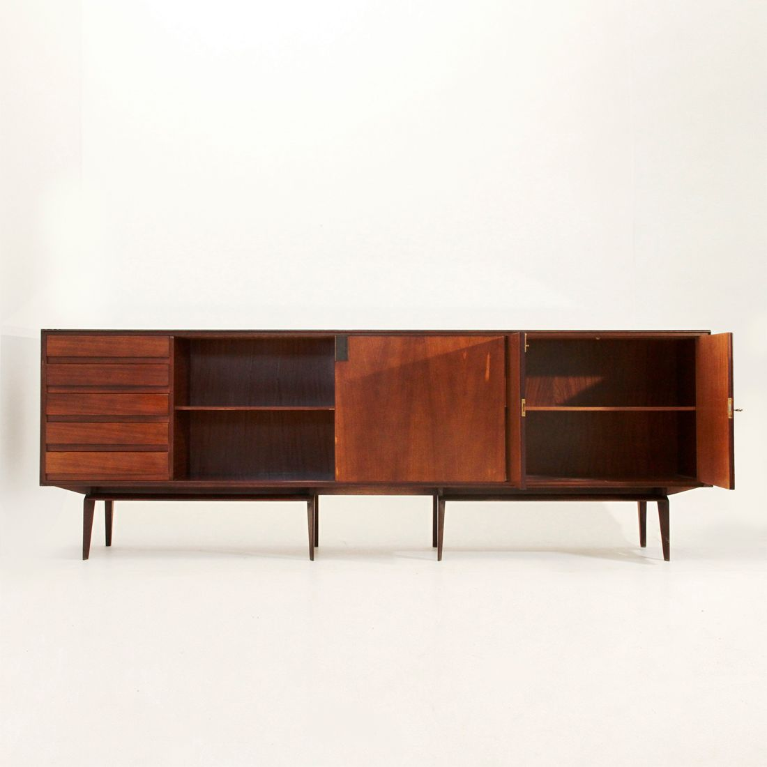 Palisander sideboard by edmondo palutari for dassi 1950s for Sideboard 2 m breit
