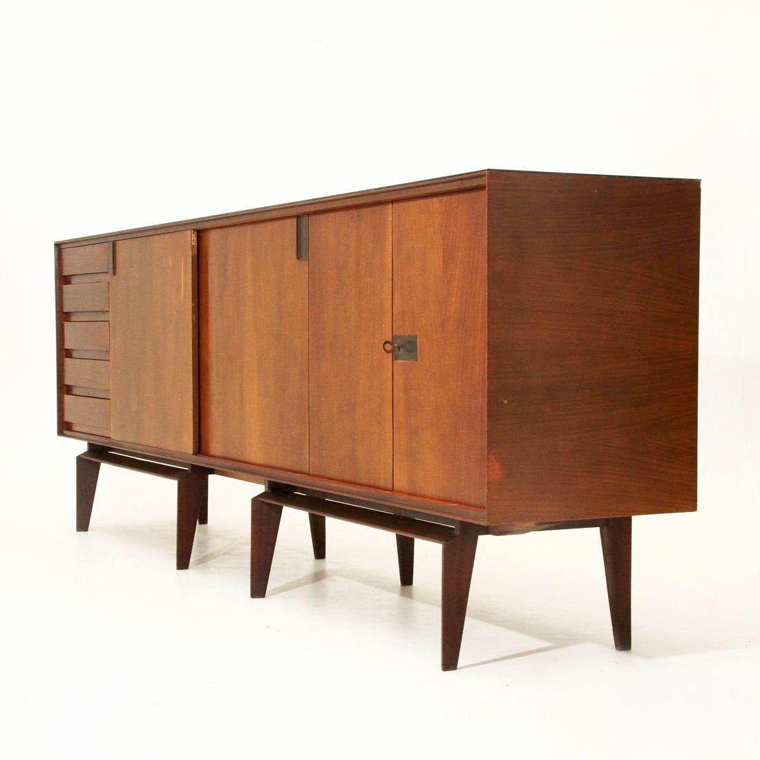 palisander sideboard by edmondo palutari for dassi 1950s. Black Bedroom Furniture Sets. Home Design Ideas