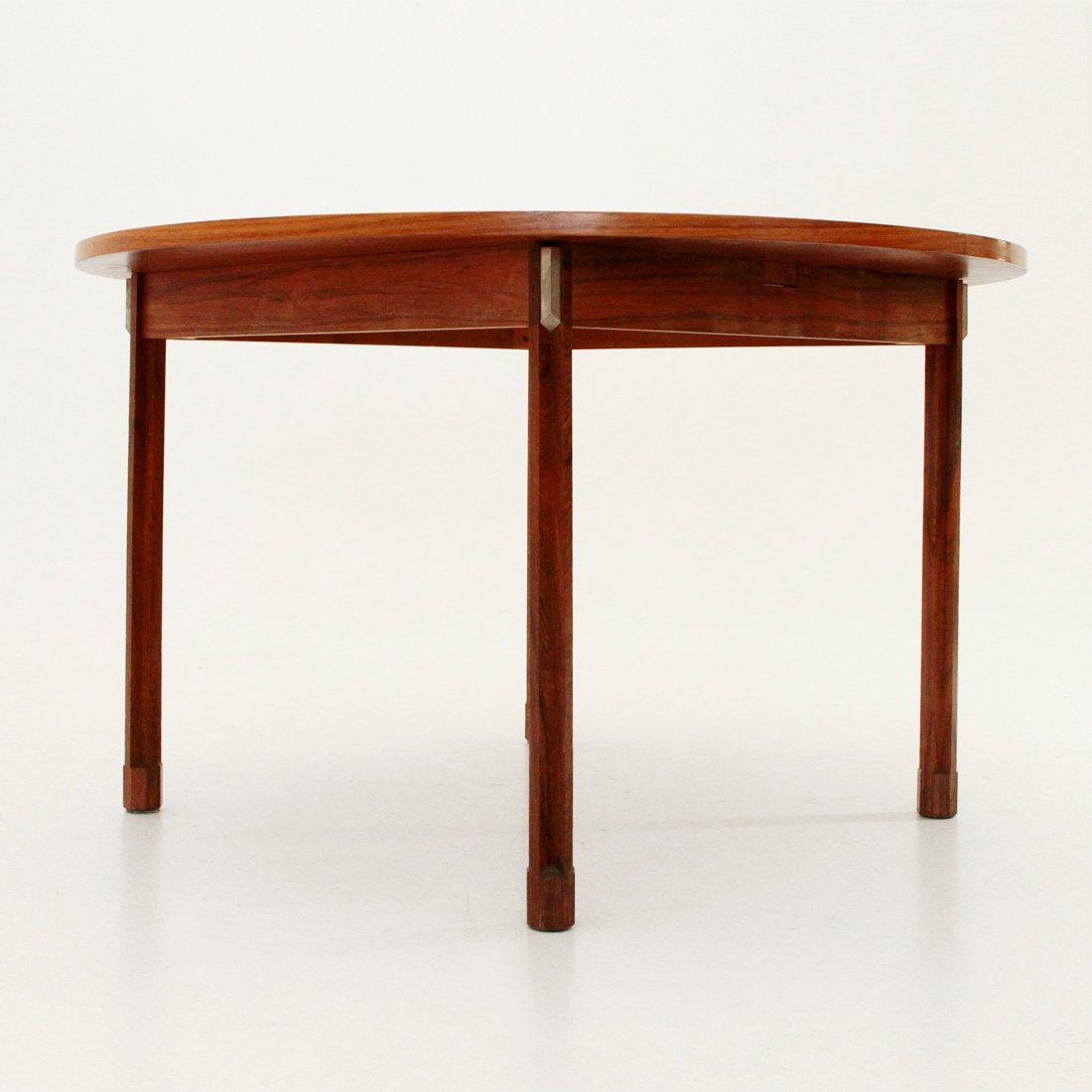 runder tisch aus holz aluminium von georges coslin f r 3v arredamenti 1960er bei pamono kaufen. Black Bedroom Furniture Sets. Home Design Ideas