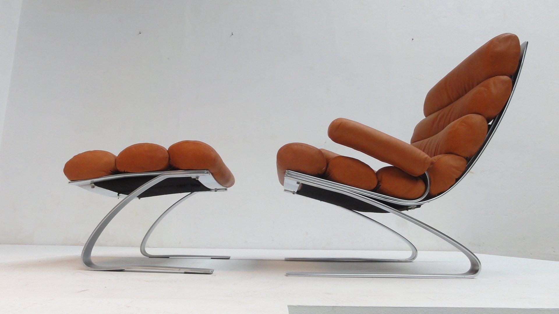sinus lounge chair by reinhold adolf hans j rgen schr pfer for cor germany 1970s for sale at. Black Bedroom Furniture Sets. Home Design Ideas