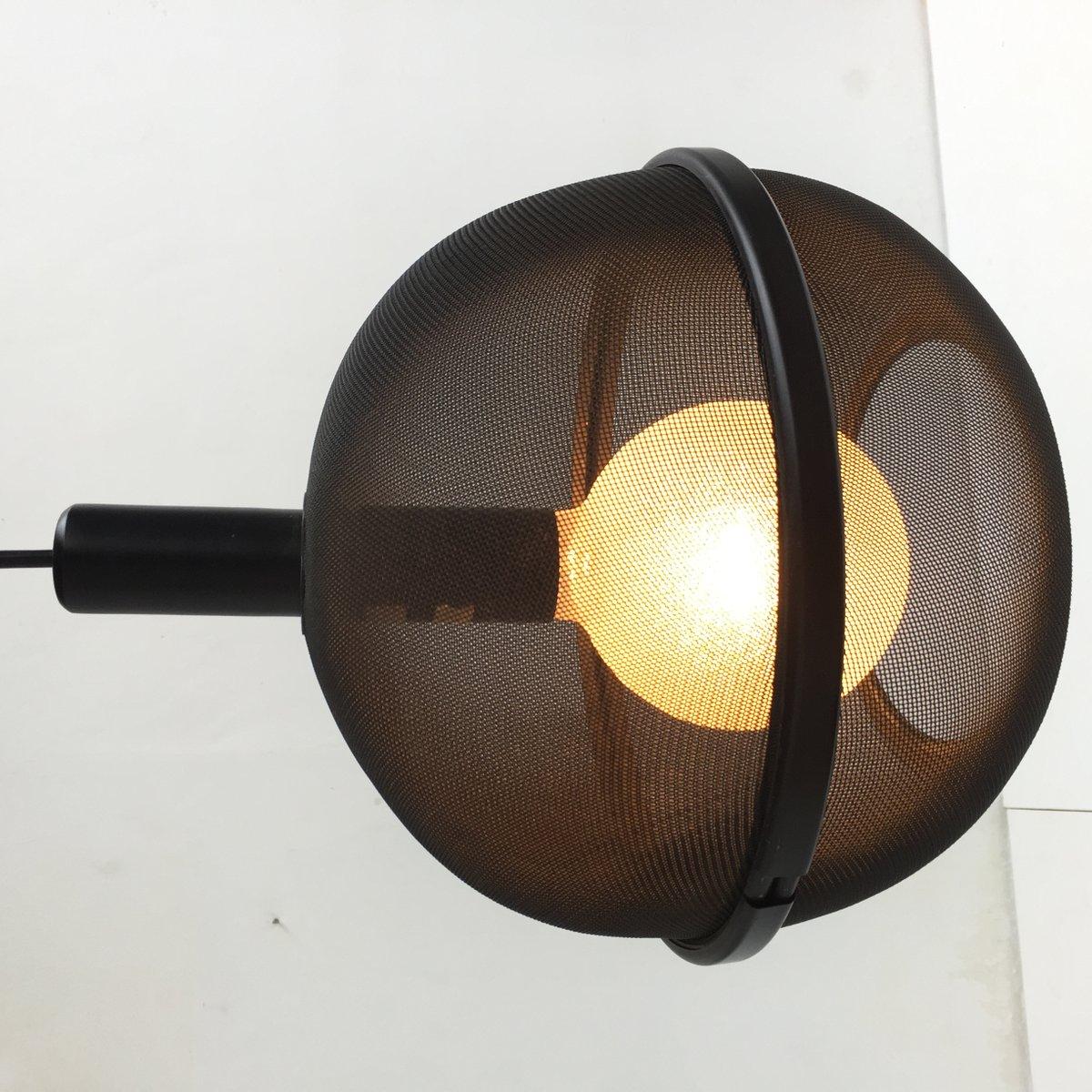 h ngelampe mit metallgitter schirm 1970er bei pamono kaufen. Black Bedroom Furniture Sets. Home Design Ideas