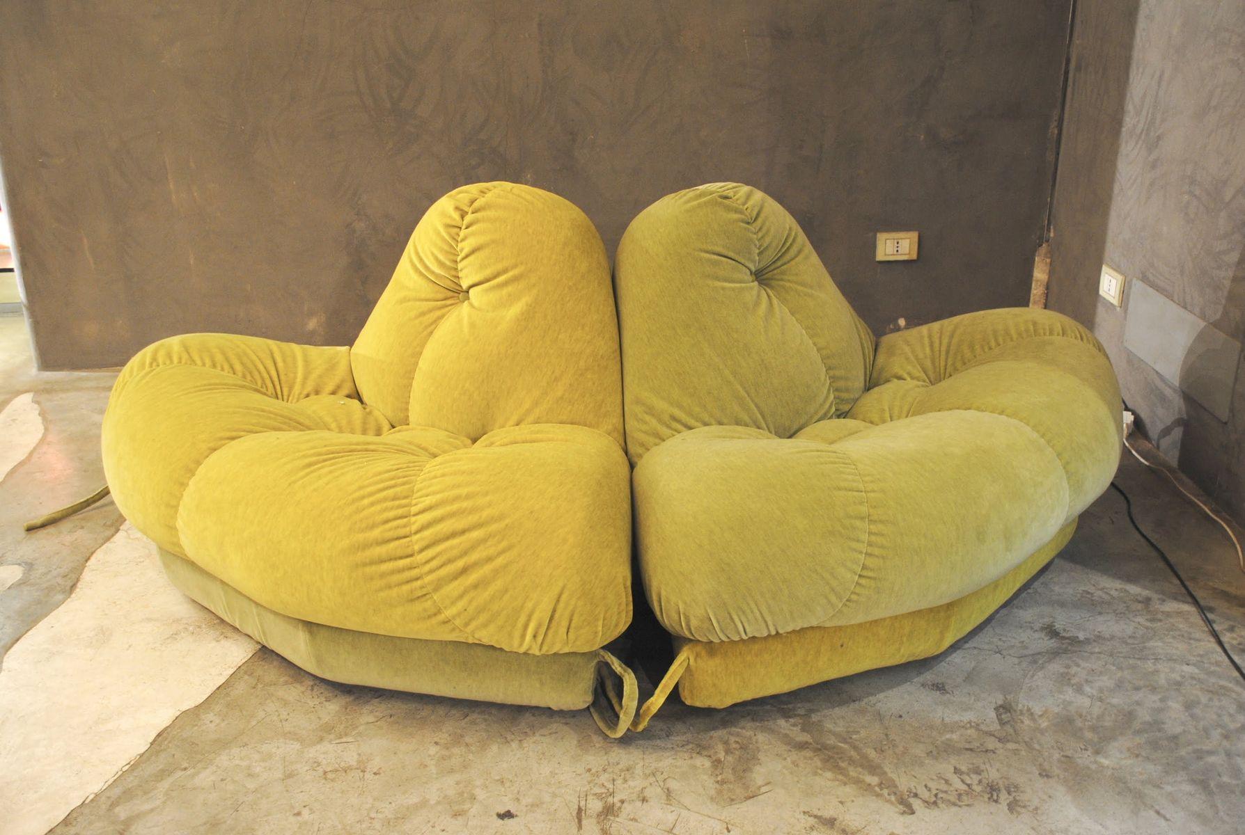 Vintage Italian Nuvola Sectional Circular Sofa