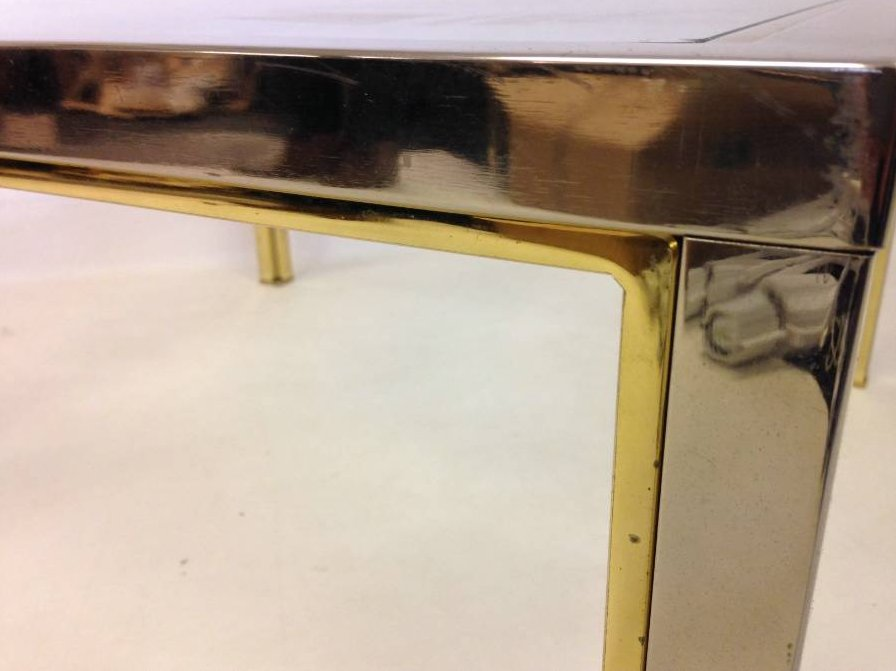 Vintage Chrome U0026 Brass Coffee Table, 1970s For Sale At Pamono