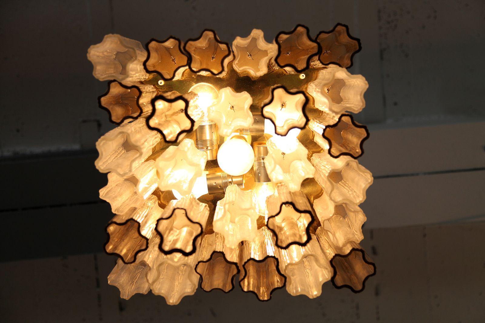 chandelier en verre par j t kalmar pour kalmar autriche. Black Bedroom Furniture Sets. Home Design Ideas