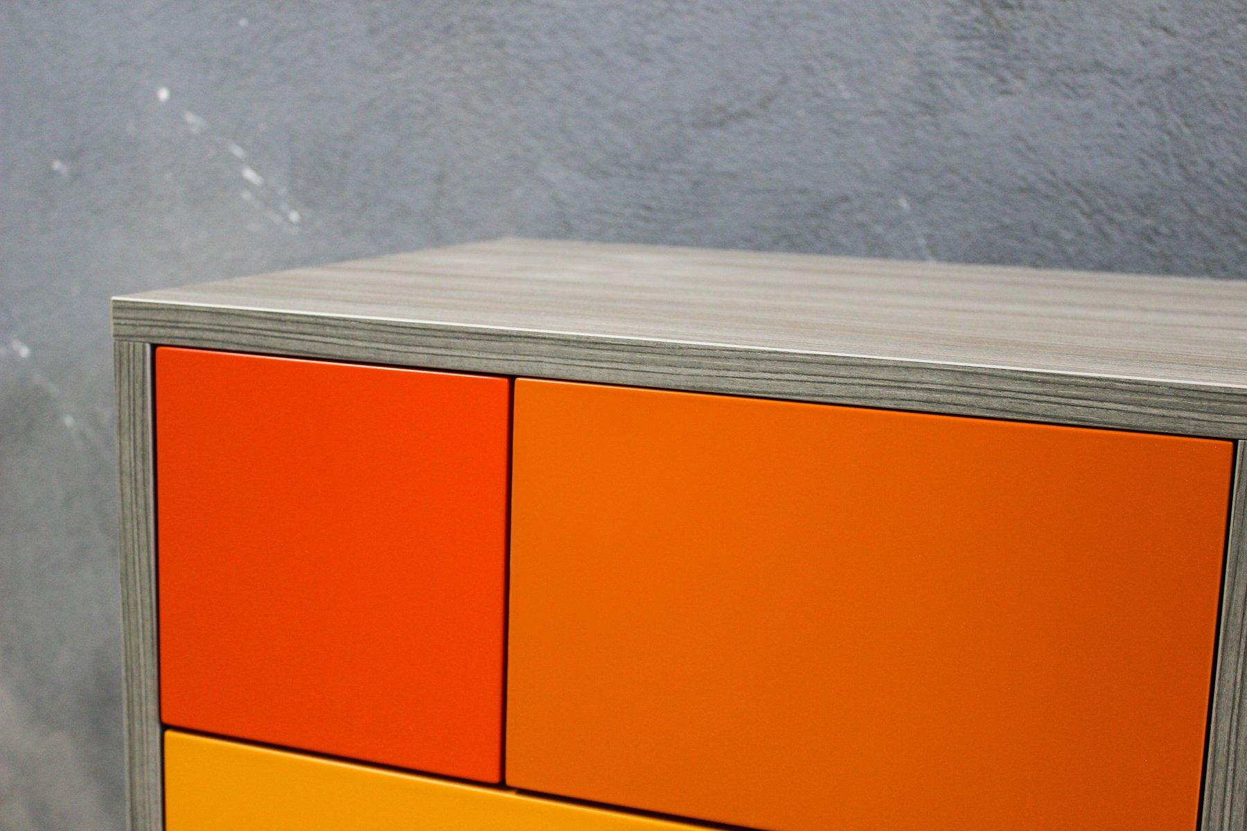 Orange real sideboard by studio deusdara for sale at pamono for Sideboard real