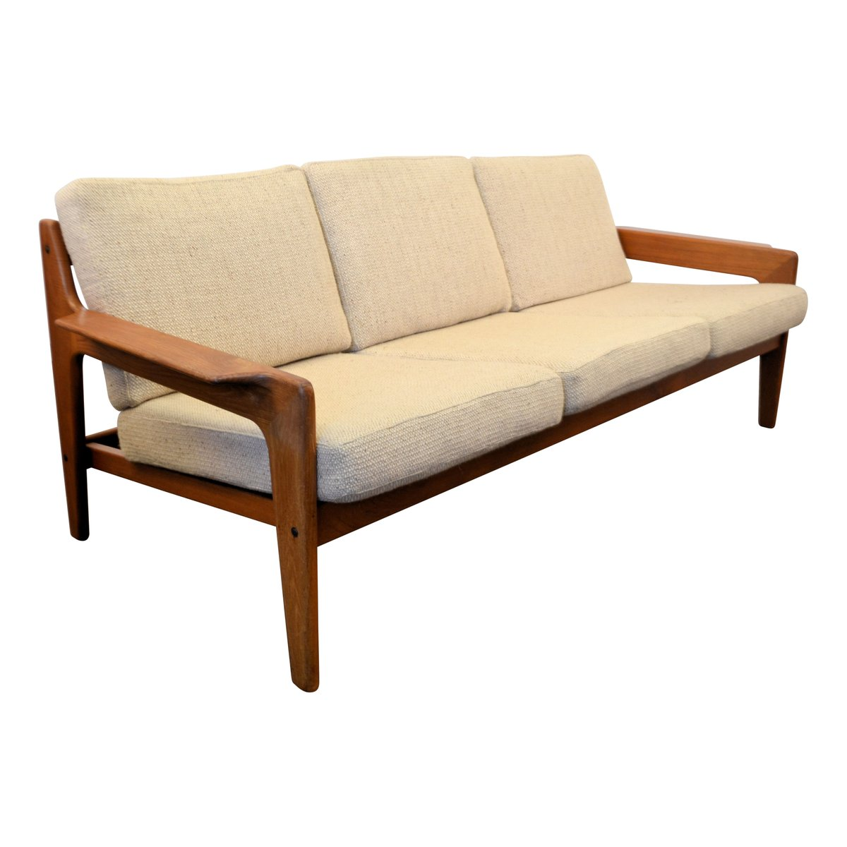 Vintage Danish Teak Frame Sofa By Arne Wahl Iversen For Komfort