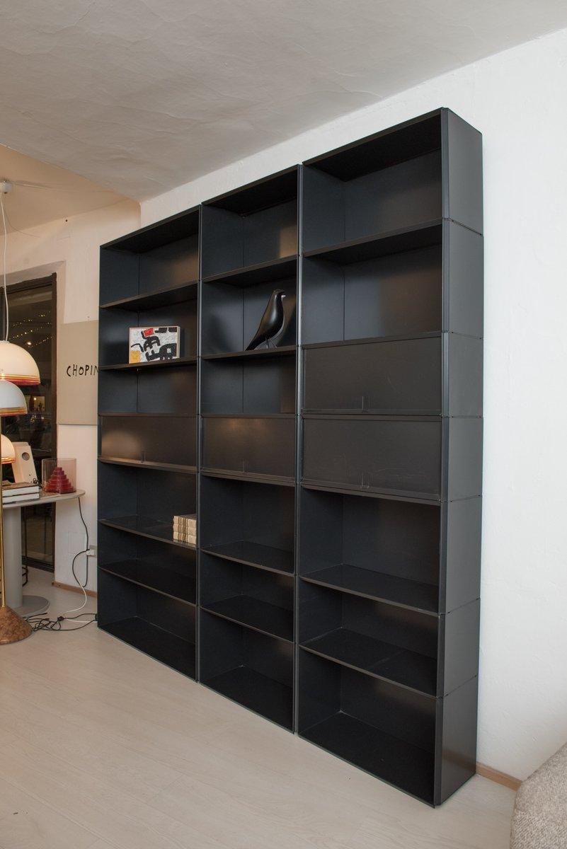 elm west products industrial bookcase modular o storage bookshelf rustic