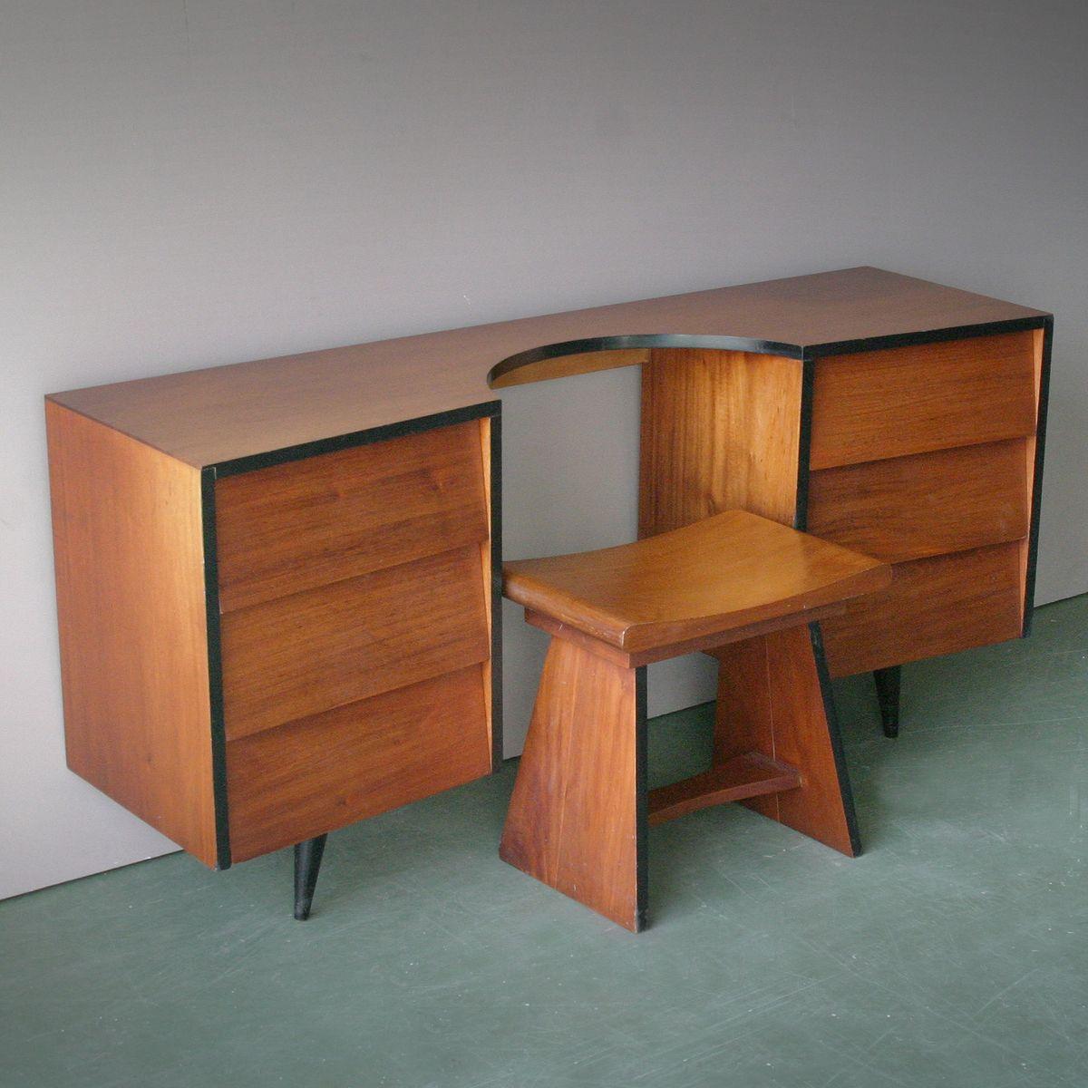 teak dressing table 1950s for sale at pamono. Black Bedroom Furniture Sets. Home Design Ideas