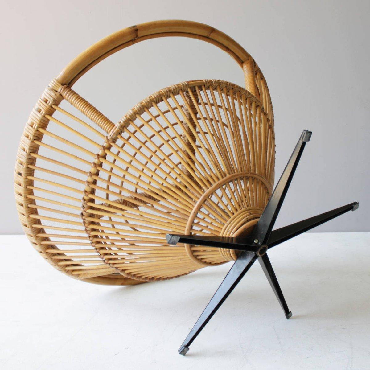 mid century rattan couchtisch ca 1969 bei pamono kaufen. Black Bedroom Furniture Sets. Home Design Ideas