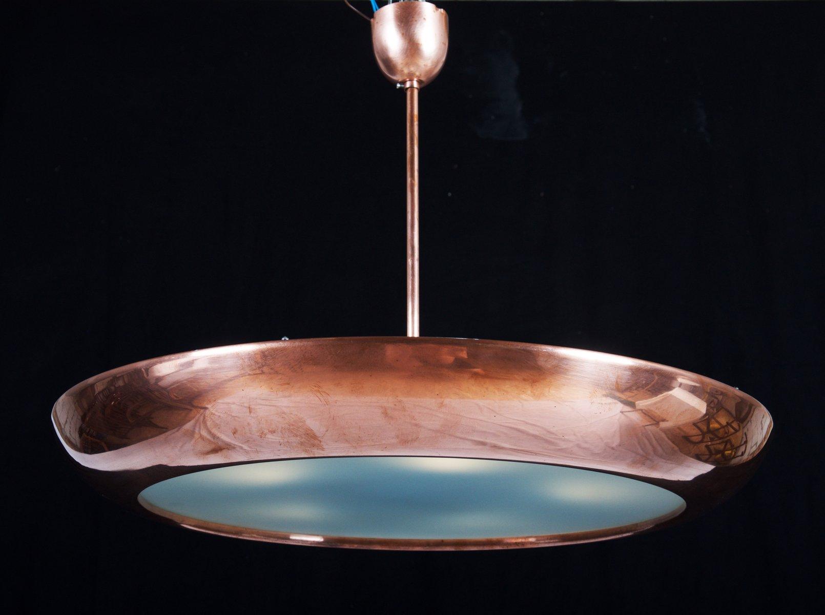 Large bauhaus copper pendant light by franta anyz for napako for large bauhaus copper pendant light by franta anyz for napako arubaitofo Choice Image