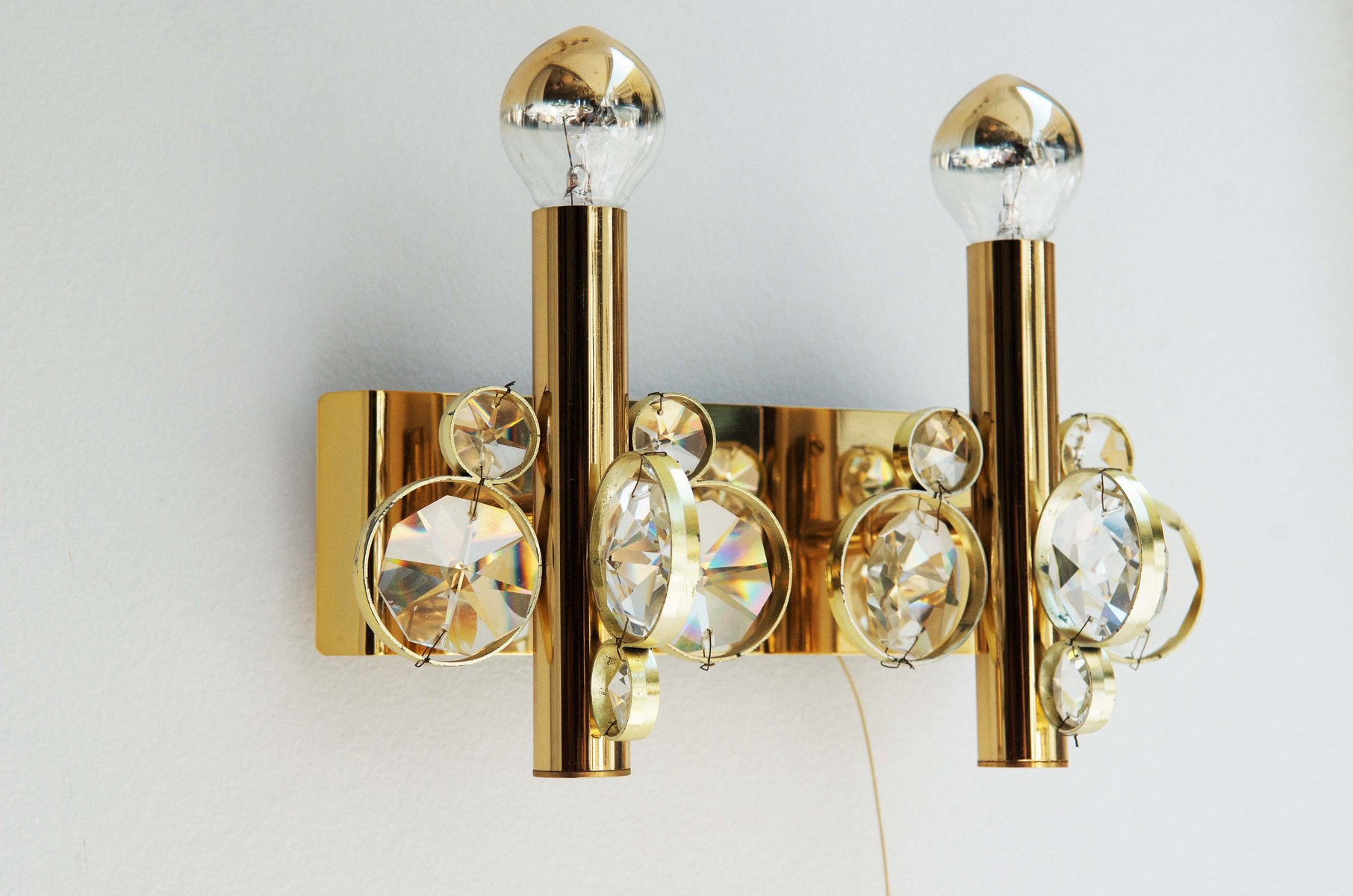 Vintage cut crystal wall sconce for sale at pamono aloadofball Choice Image