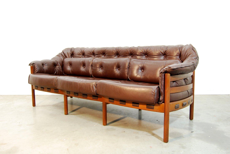 schwedisches mid century sofa von arne norell f r coja 1960er bei pamono kaufen. Black Bedroom Furniture Sets. Home Design Ideas