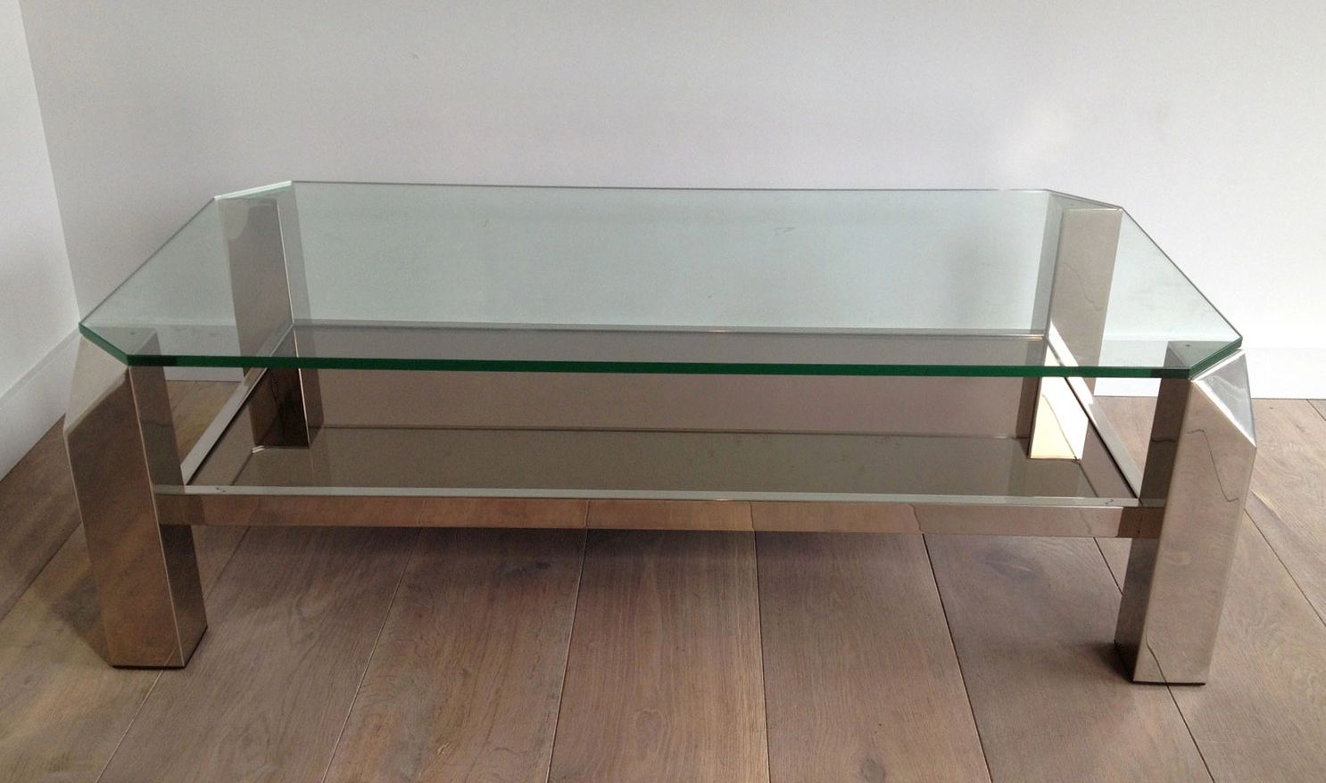 Vintage French Chrome Coffee Table For Sale At Pamono
