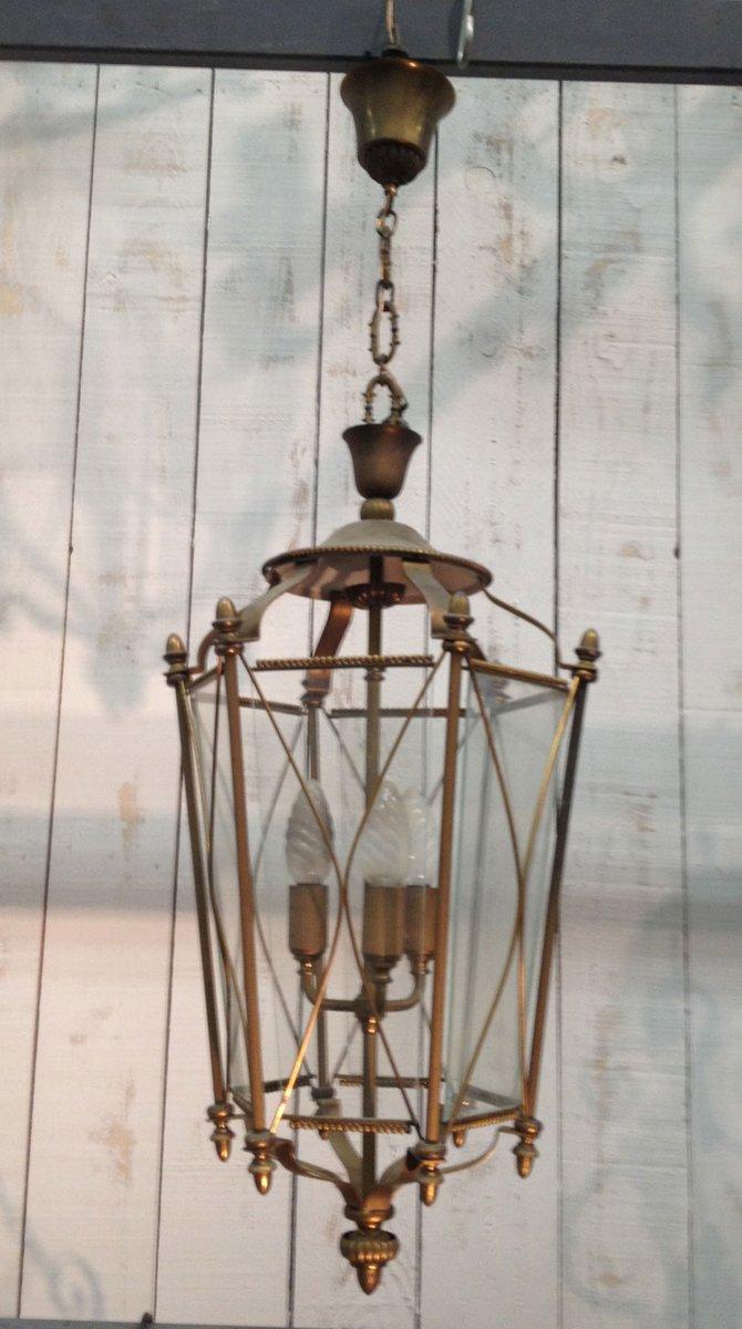 Neoklassische Laterne Aus Messing Und Glas Bei Pamono Kaufen