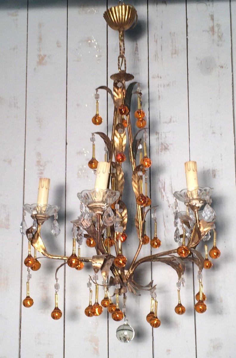 french iron chandelier 1960s en vente sur pamono. Black Bedroom Furniture Sets. Home Design Ideas