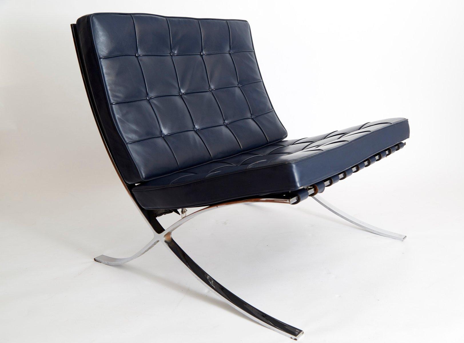 Sedia barcelona mr90 vintage di ludwig mies van der rohe - Mies van der rohe sedia ...