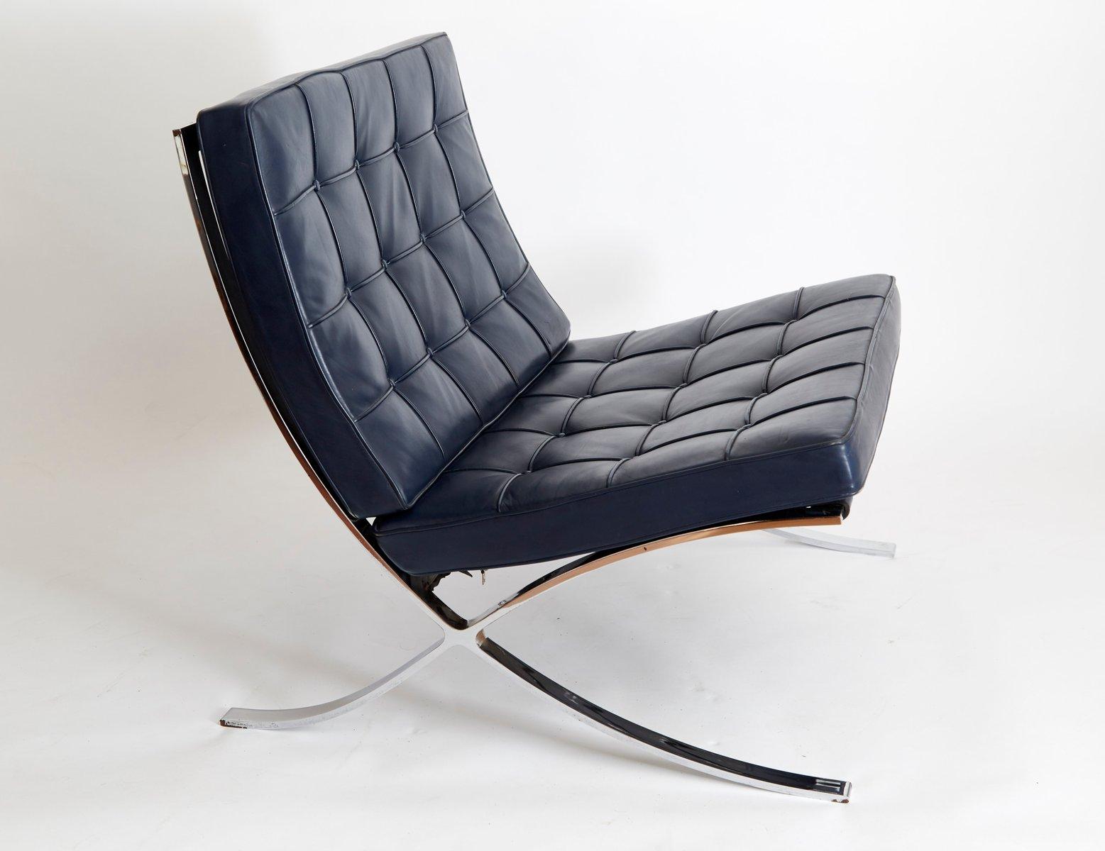 vintage mr90 barcelona polsterstuhl von ludwig mies van der rohe f r knoll international bei. Black Bedroom Furniture Sets. Home Design Ideas