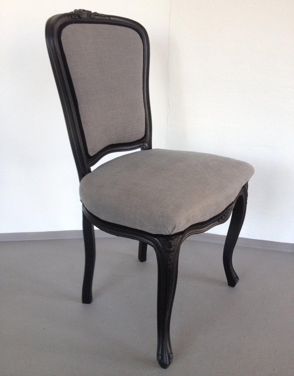 Schwarz grauer neobarock stuhl bei pamono kaufen for Stuhl designgeschichte