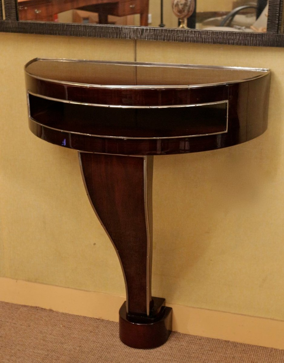 Vintage Rosewood Art Déco Console Table for sale at Pamono