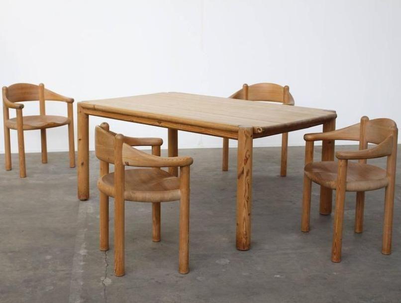 Vintage Pine Dining Set by Rainer Daumiller for Hirtshals Savvaerk ...