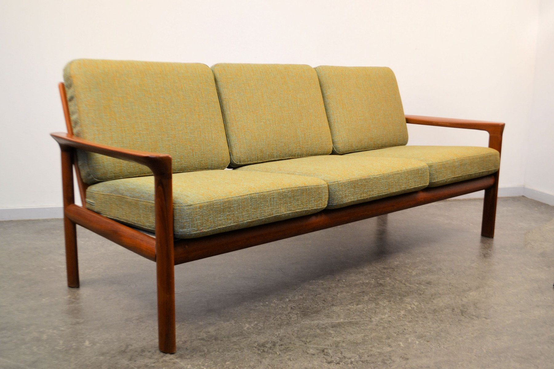 Teak 3-Seater Sofa by Sven Ellekaer for Komfort, 1960s for sale at ...