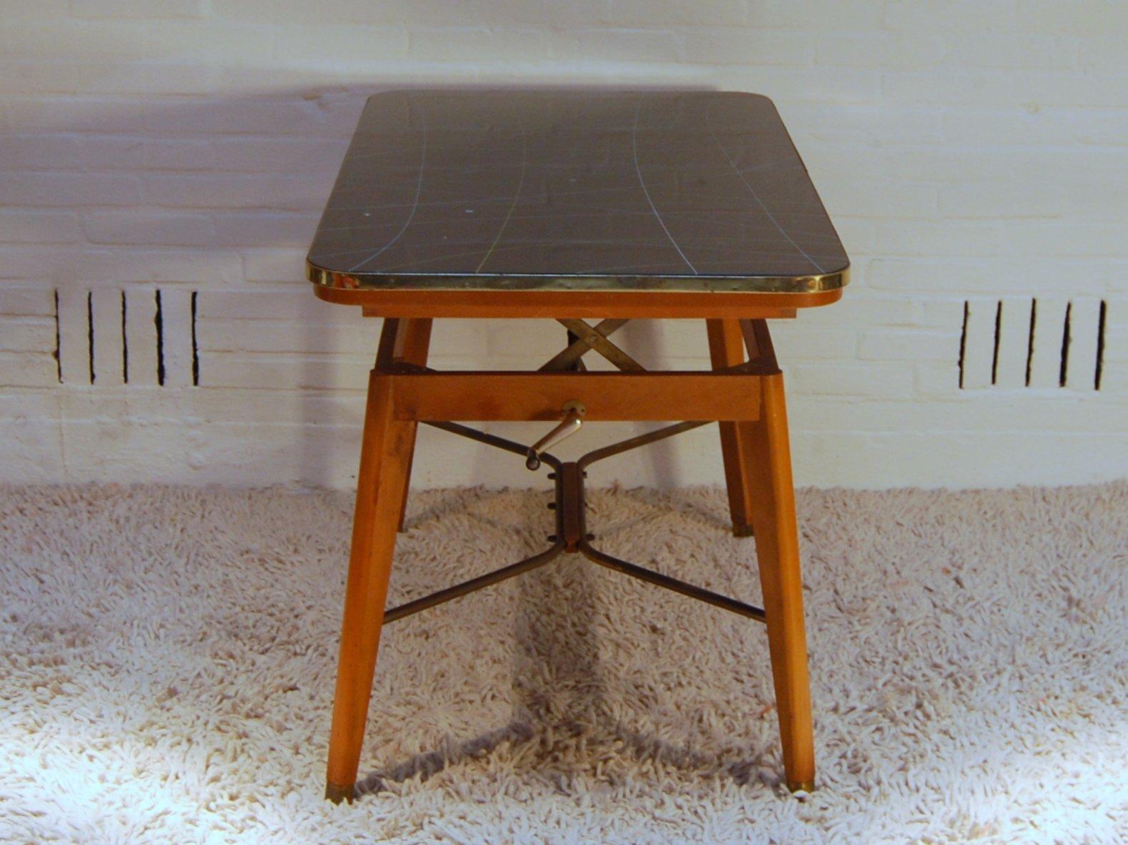 vintage beistelltisch mit tischplatte aus glas bei pamono kaufen. Black Bedroom Furniture Sets. Home Design Ideas