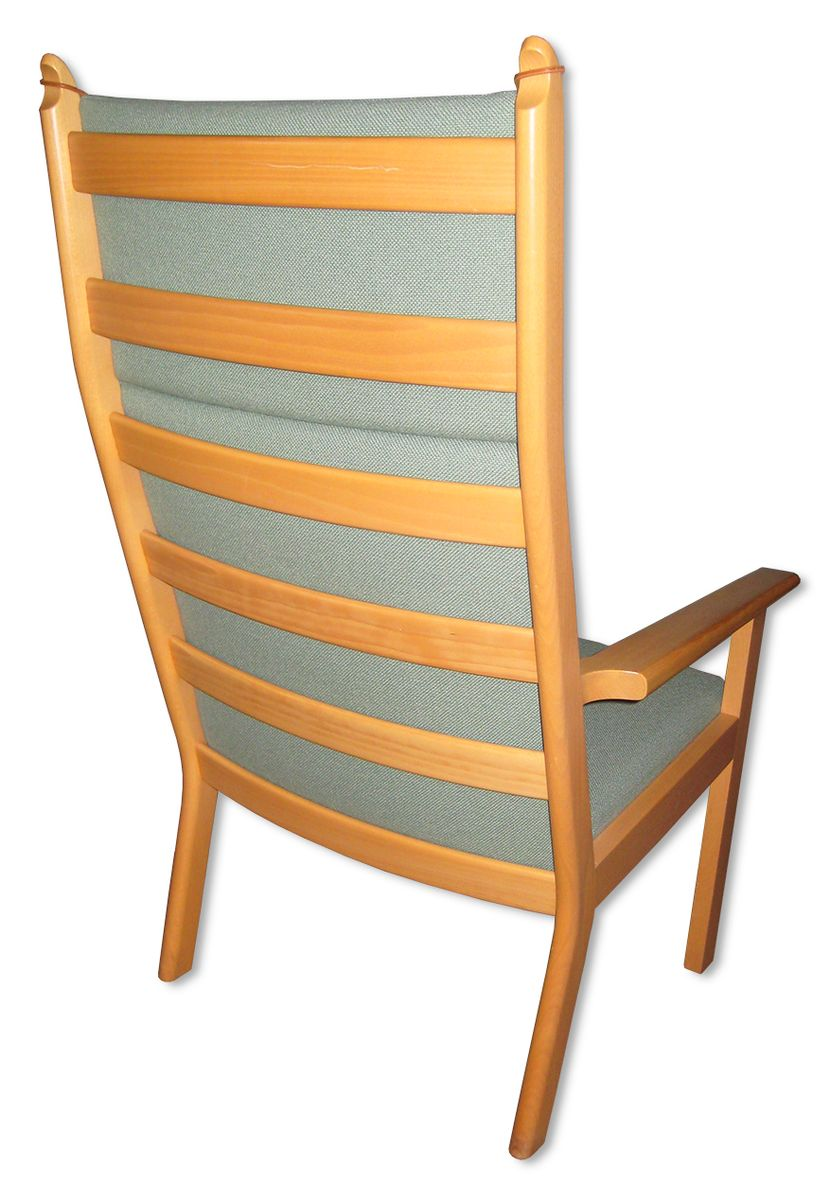- Vintage Easy Chair With Footstool By Hans J. Wegner For Sale At Pamono