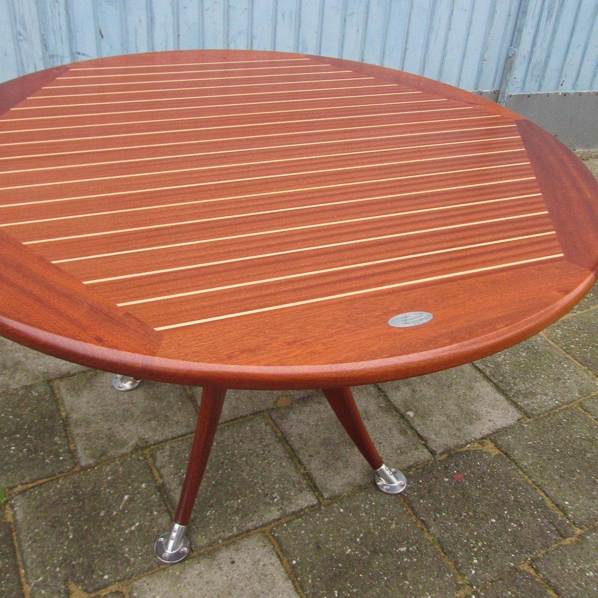 Tavolo da giardino rotondo allungabile vintage di deckline for Tavolo allungabile giardino