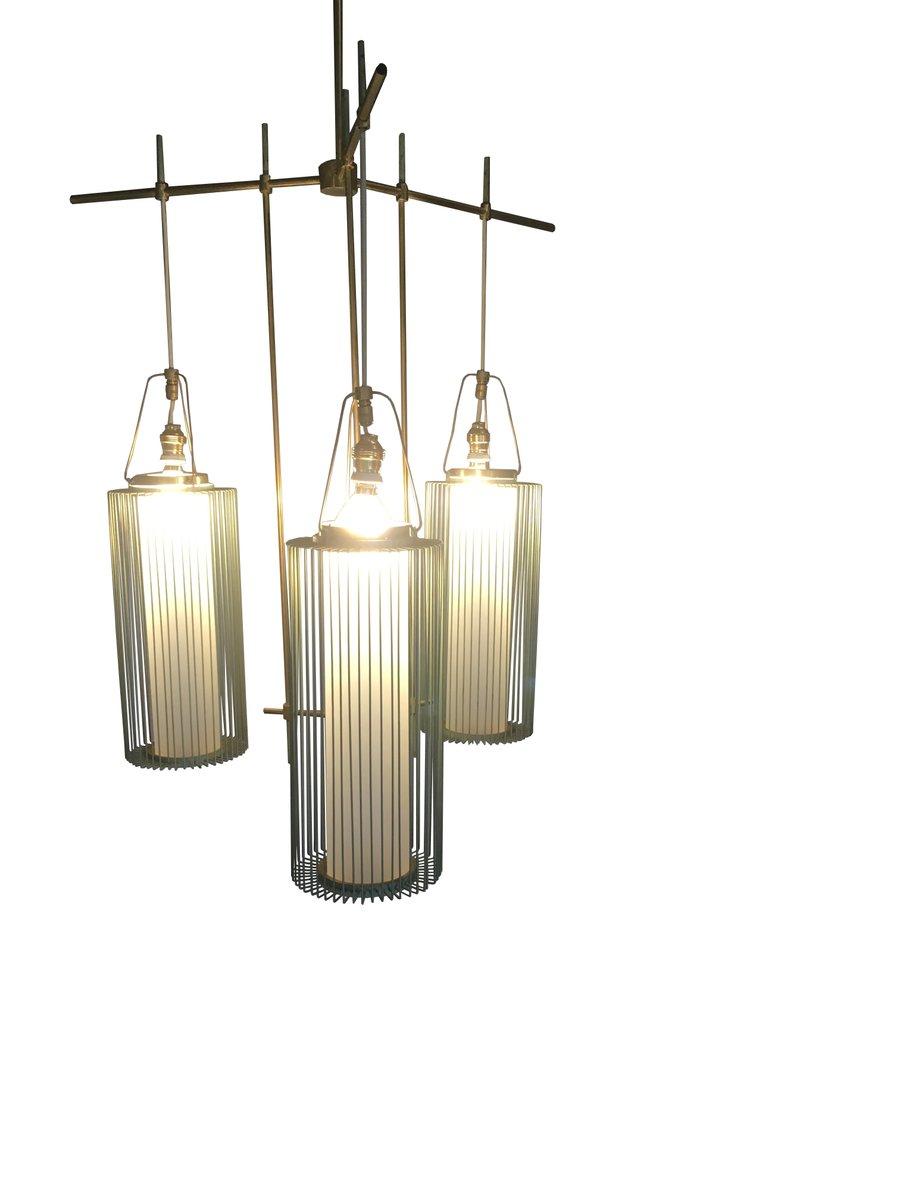 italienischer vintage kronleuchter mit opalglas leuchten bei pamono kaufen. Black Bedroom Furniture Sets. Home Design Ideas