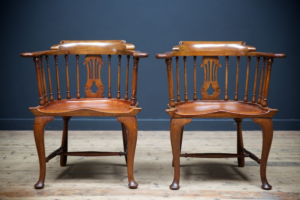 - Antique Lyre Back Arm Chairs, 1830, Set Of 2 For Sale At Pamono