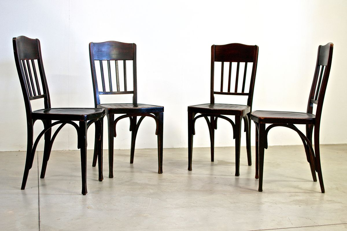 Antique Dining Chairs from Jacob & Josef Kohn, Set of 4 - Antique Dining Chairs From Jacob & Josef Kohn, Set Of 4 For Sale