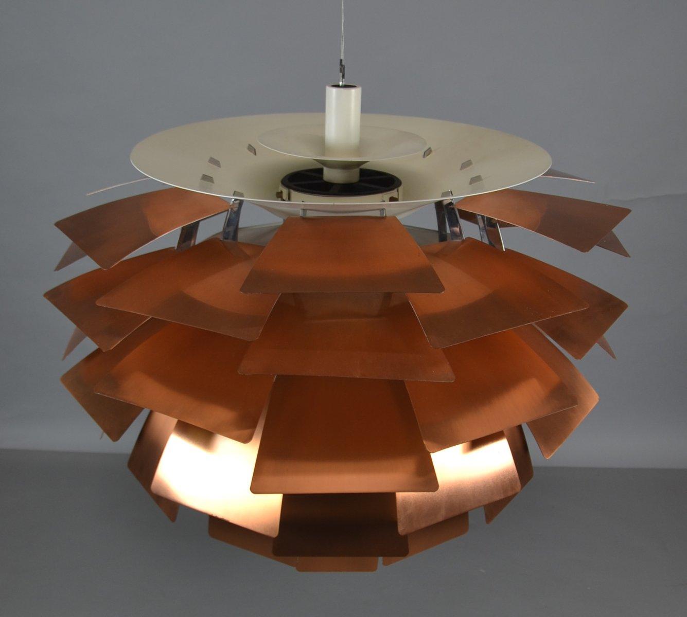 lampe ph artichoke mid century en cuivre par poul. Black Bedroom Furniture Sets. Home Design Ideas