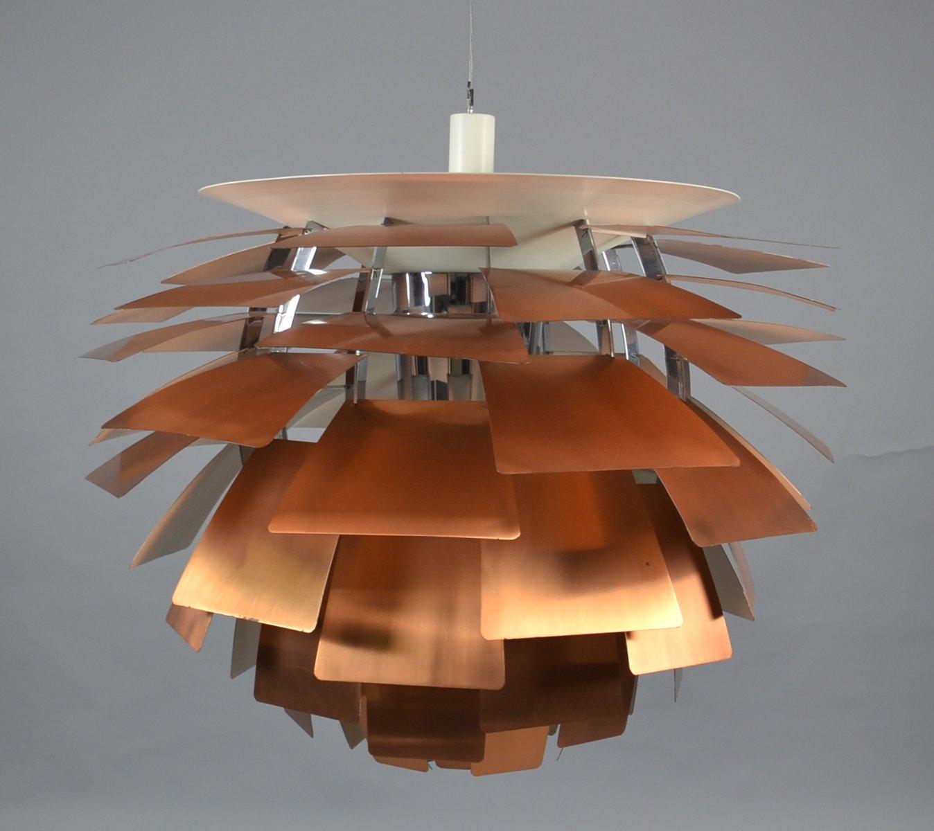 lampe ph artichoke mid century en cuivre par poul henningsen pour louis poulsen en vente sur pamono. Black Bedroom Furniture Sets. Home Design Ideas