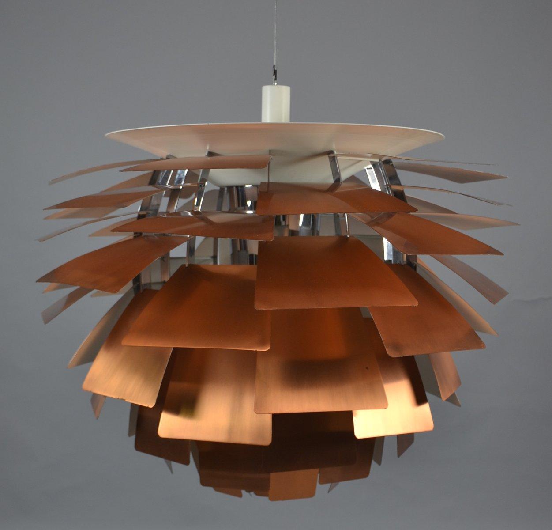 Mid Century Copper PH Artichoke Lamp By Poul Henningsen For Louis Poulsen  For Sale At Pamono