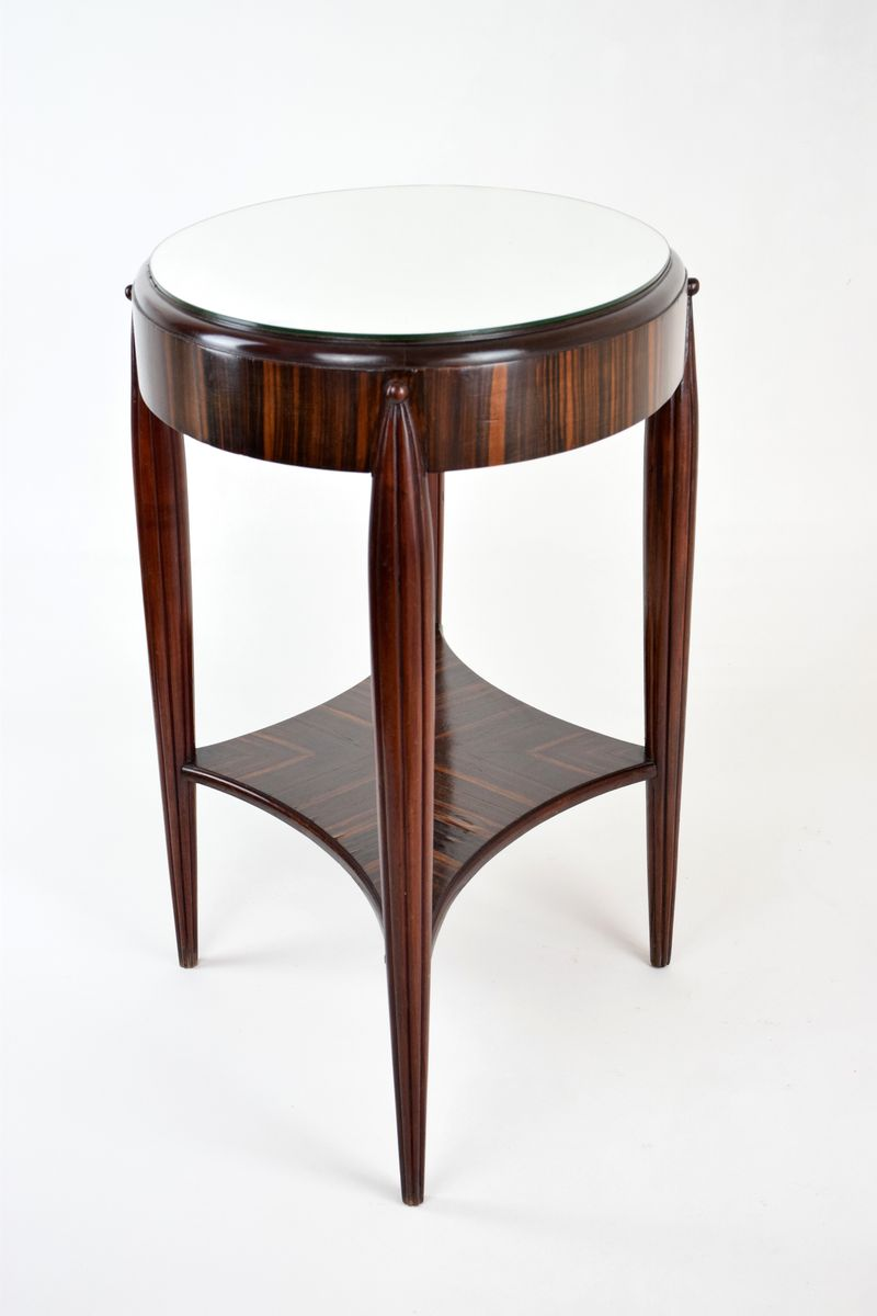 french art deco zebrawood veneered console table 1930s for sale at pamono. Black Bedroom Furniture Sets. Home Design Ideas