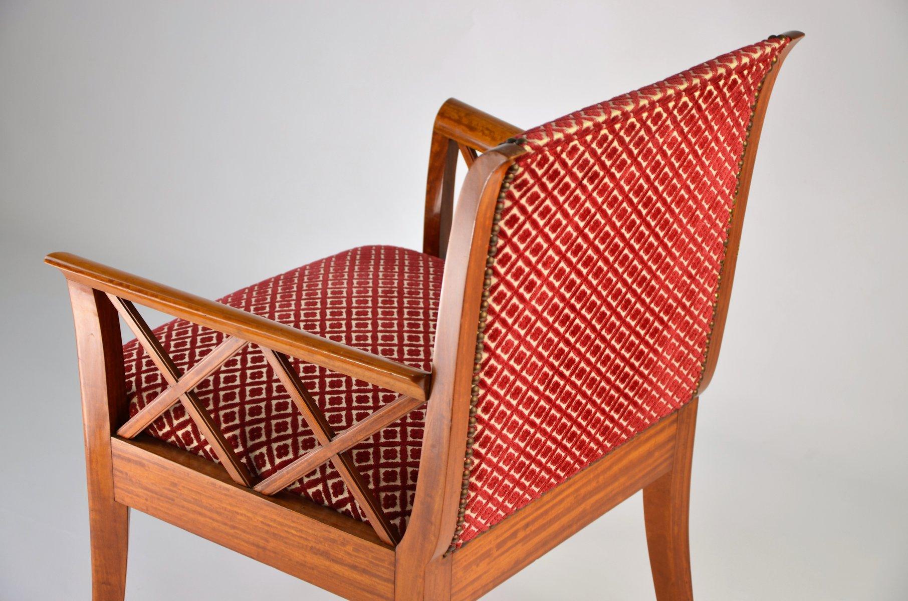 armlehnstuhl aus kirschholz 1940er bei pamono kaufen. Black Bedroom Furniture Sets. Home Design Ideas