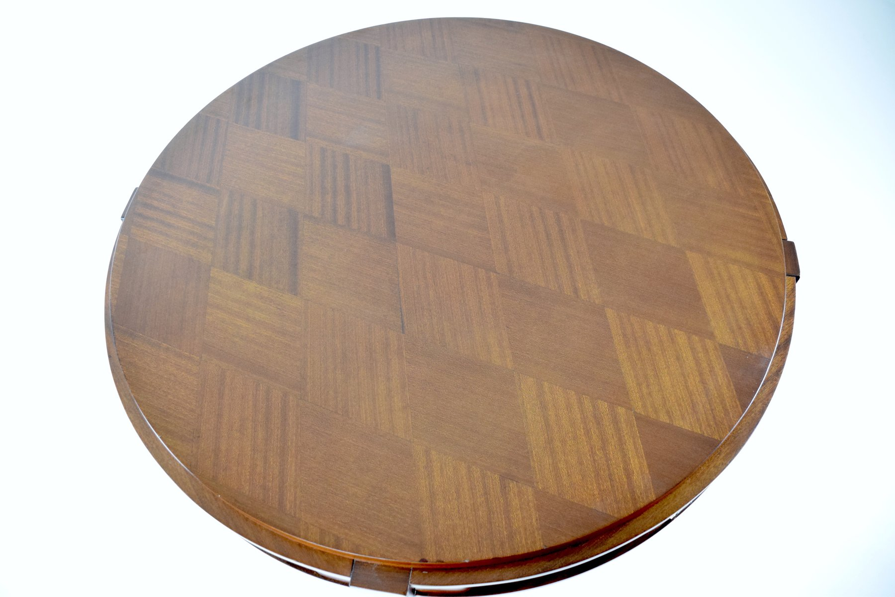 parquetry gueridon game table by jules leleu 1930s for sale at pamono. Black Bedroom Furniture Sets. Home Design Ideas