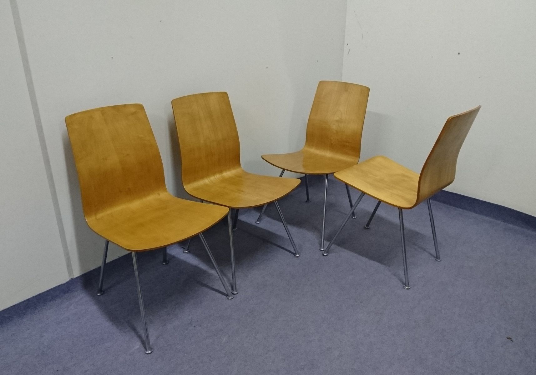 mid century esszimmerst hle 1950er 4er set bei pamono kaufen. Black Bedroom Furniture Sets. Home Design Ideas