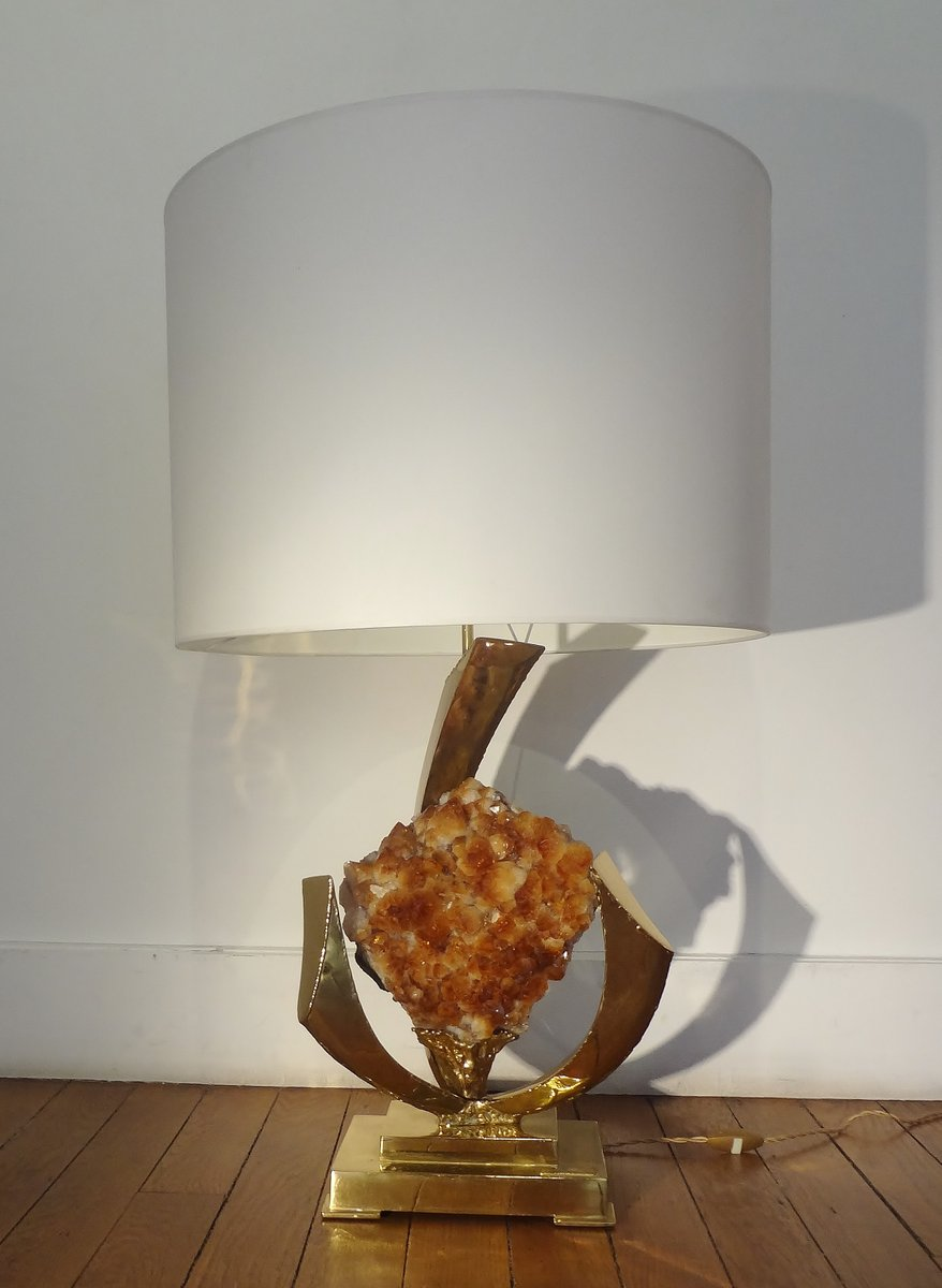 Gilt brass rock crystal table lamp by jacques duval brasseur price per piece mozeypictures Gallery