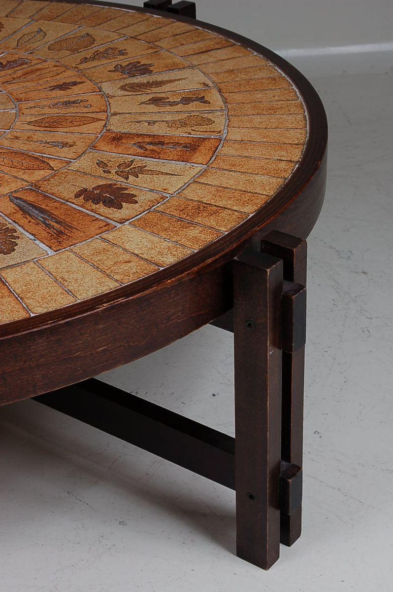 table basse en c ramique par roger capron pour atelier capron en vente sur pamono. Black Bedroom Furniture Sets. Home Design Ideas